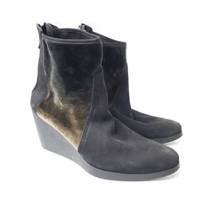 Arche Johaho suede ankle wedge boots sz 39